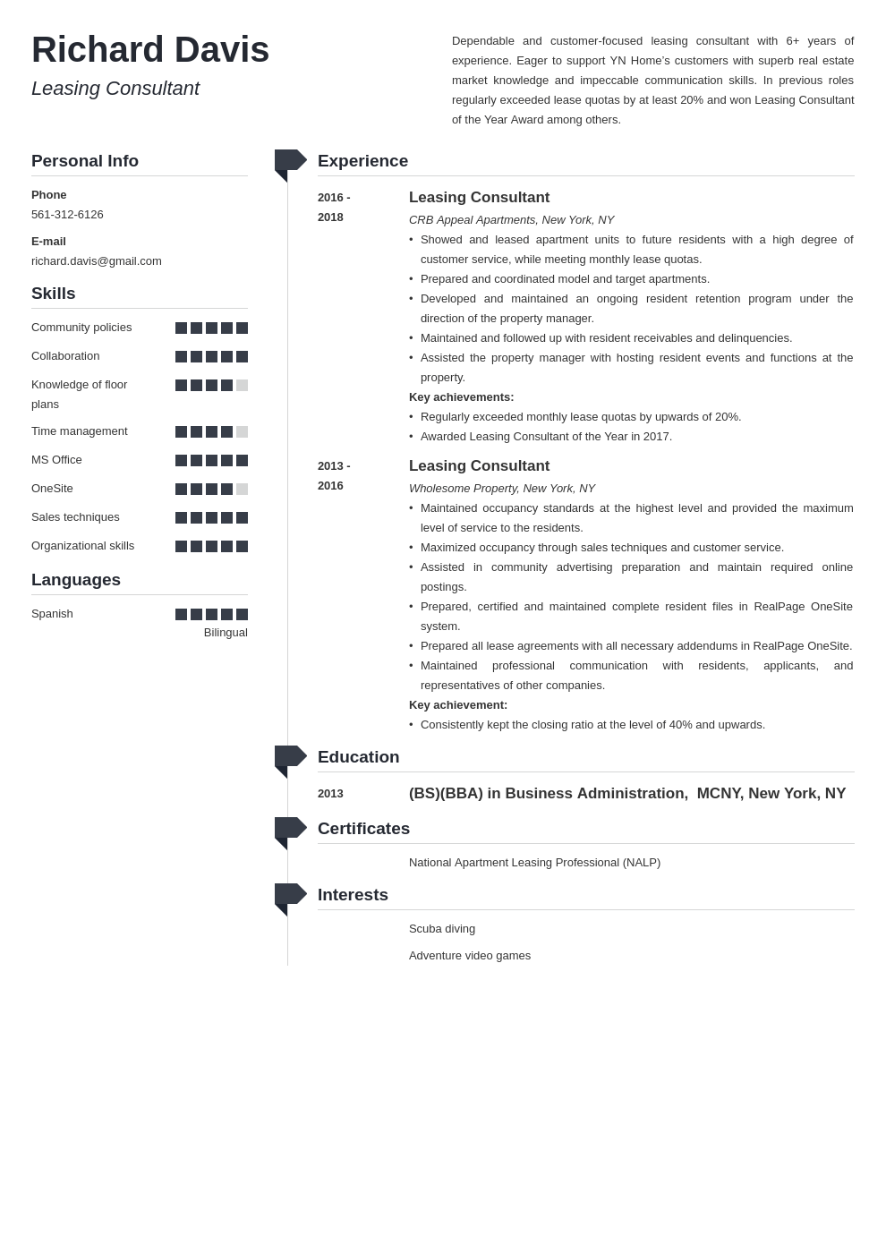 leasing consultant resume example template muse