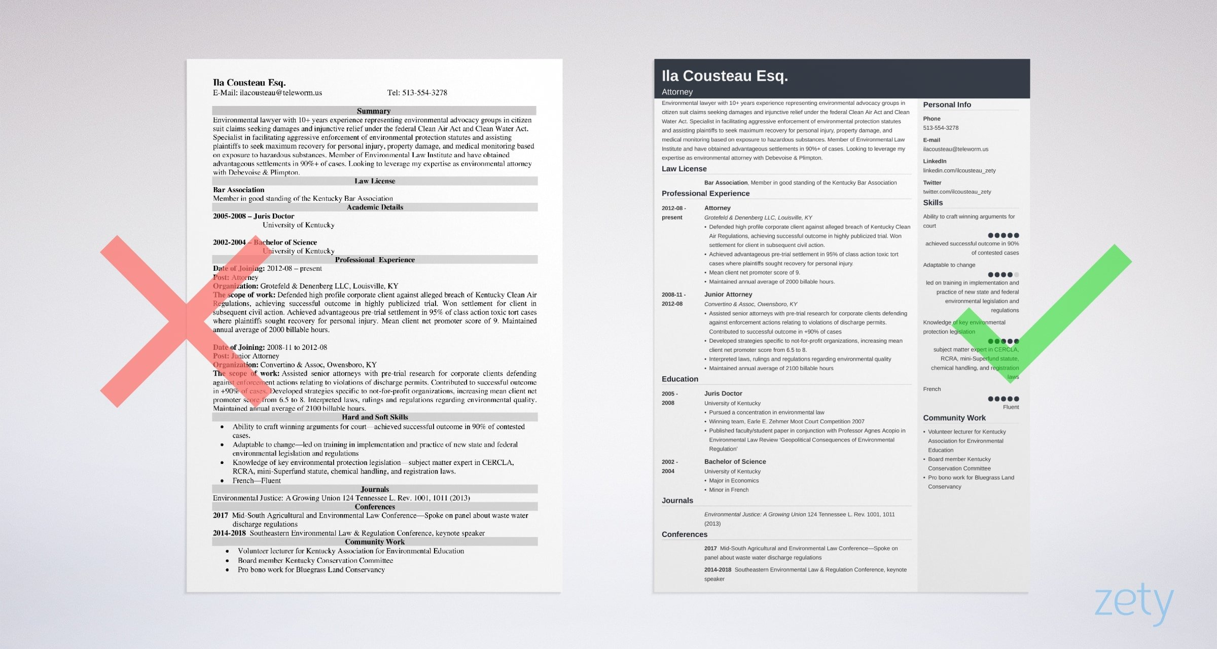 Law & Legal Resume Template & Examples: Guide & 20+ Tips