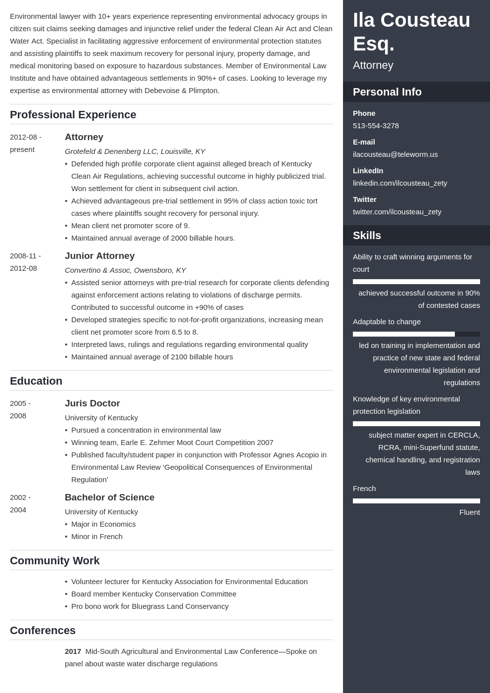 legal resume example template enfold
