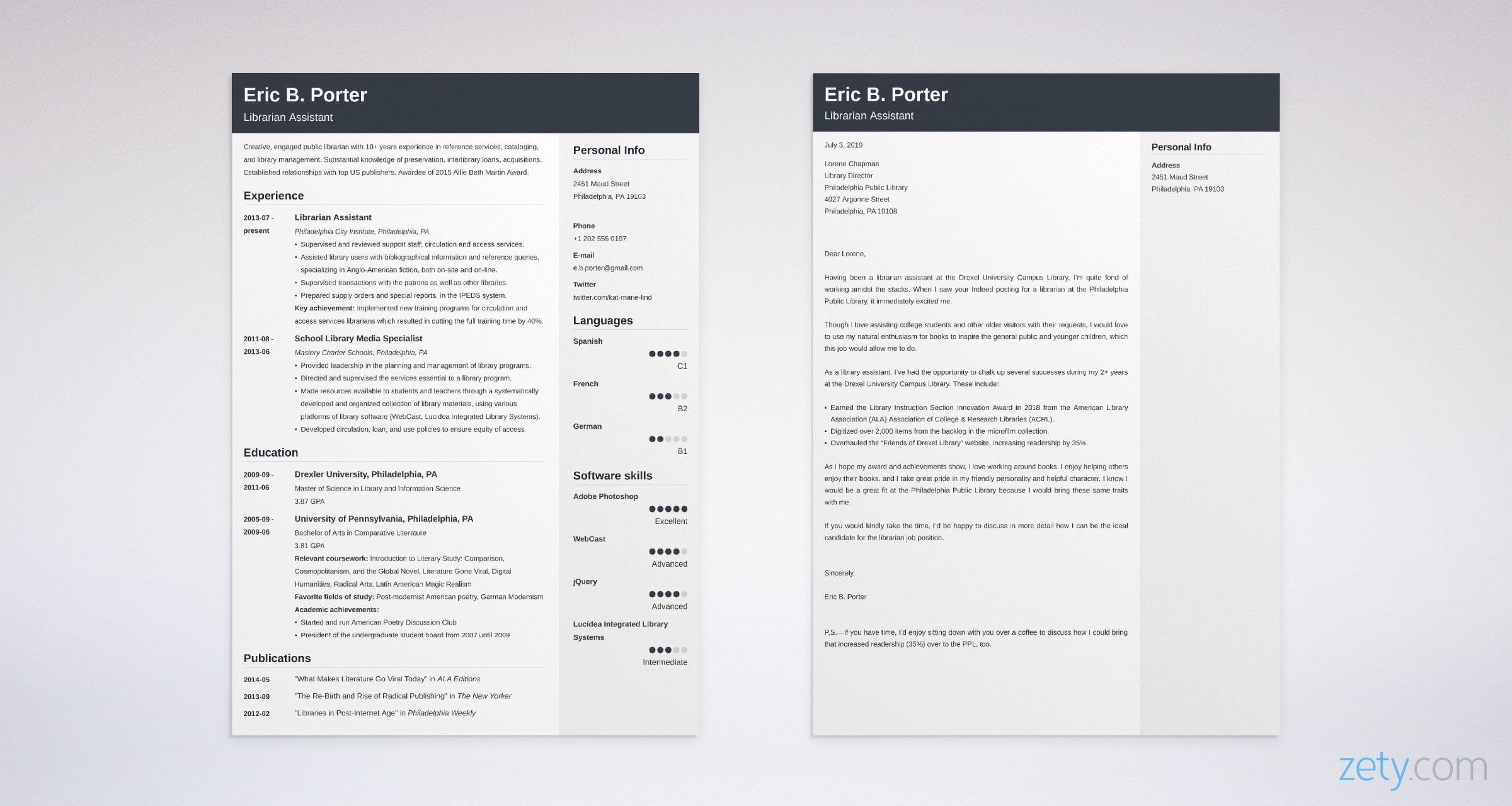 Librarian Cover Letter: Sample & Writing Guide [20+ Library ...