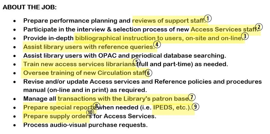 Hereu0027s A Sample Reference Librarian Job Description: Librarian Resume Job  Description  Librarian Resume Sample