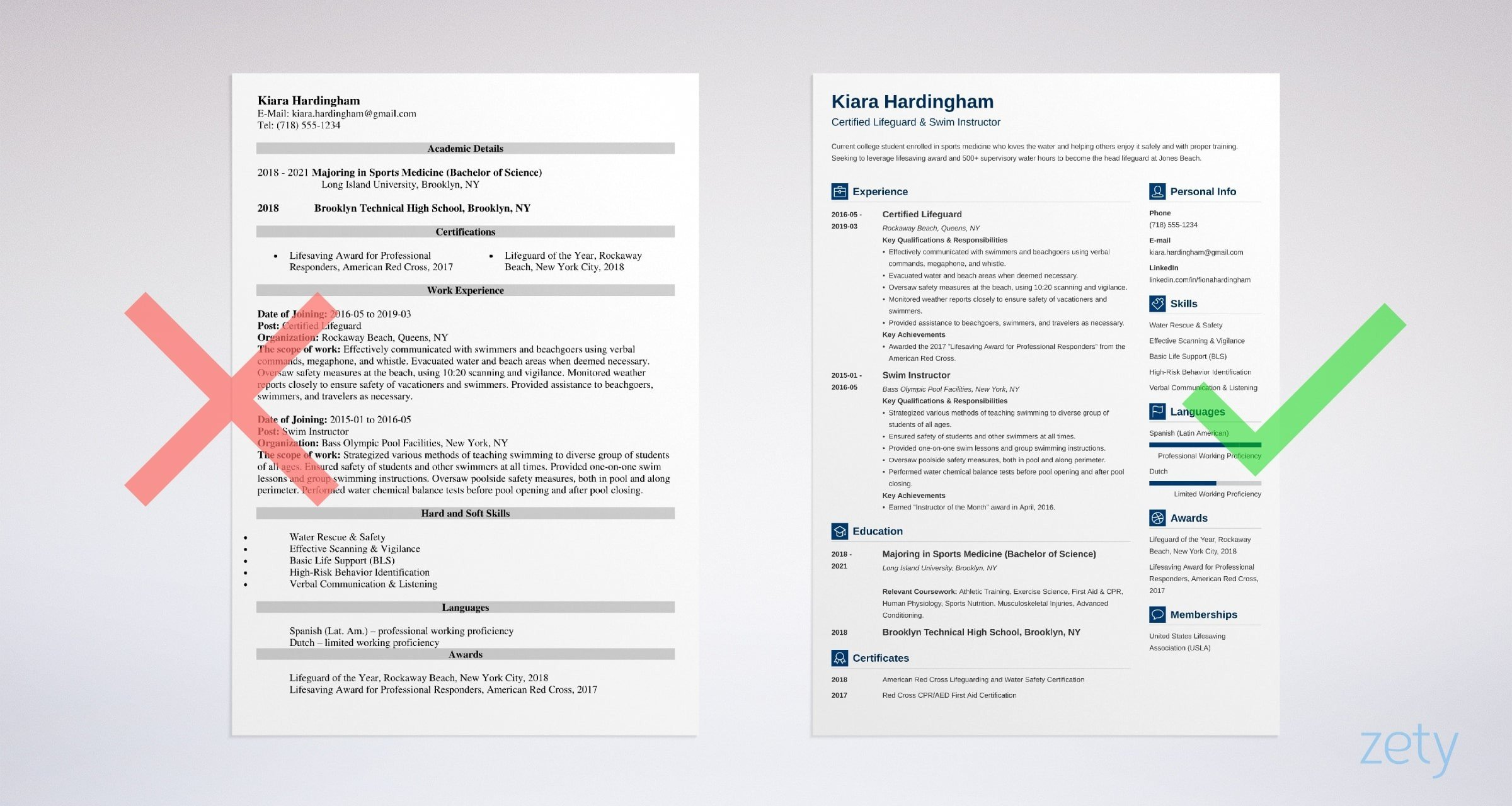 Lifeguard Resume Sample Complete Writing Guide 20 Examples