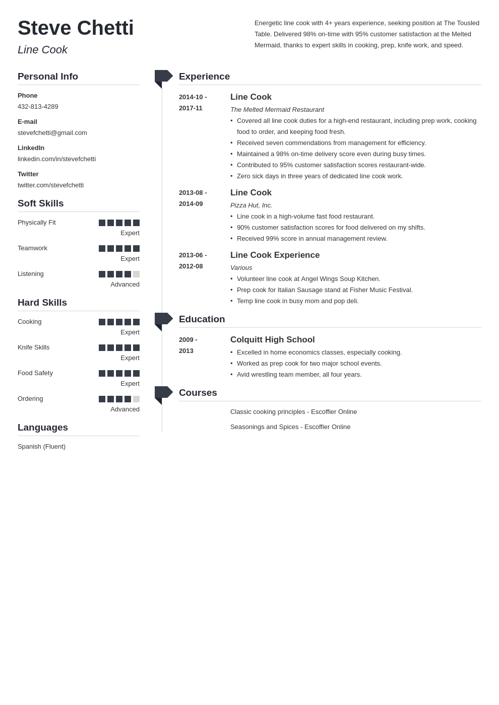 line cook resume example template muse