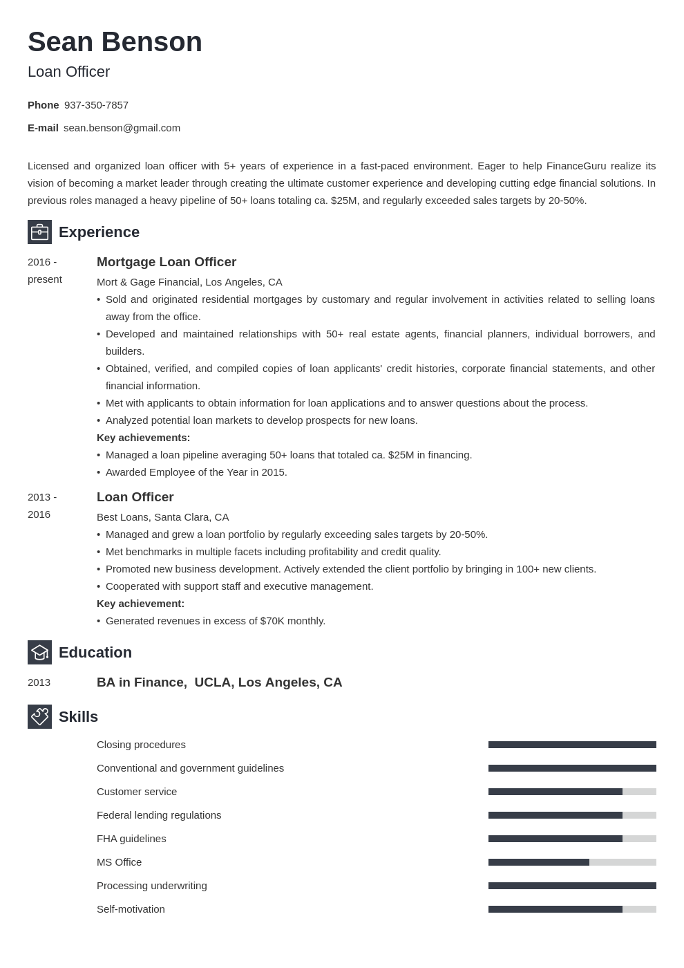 loan officer resume example template newcast