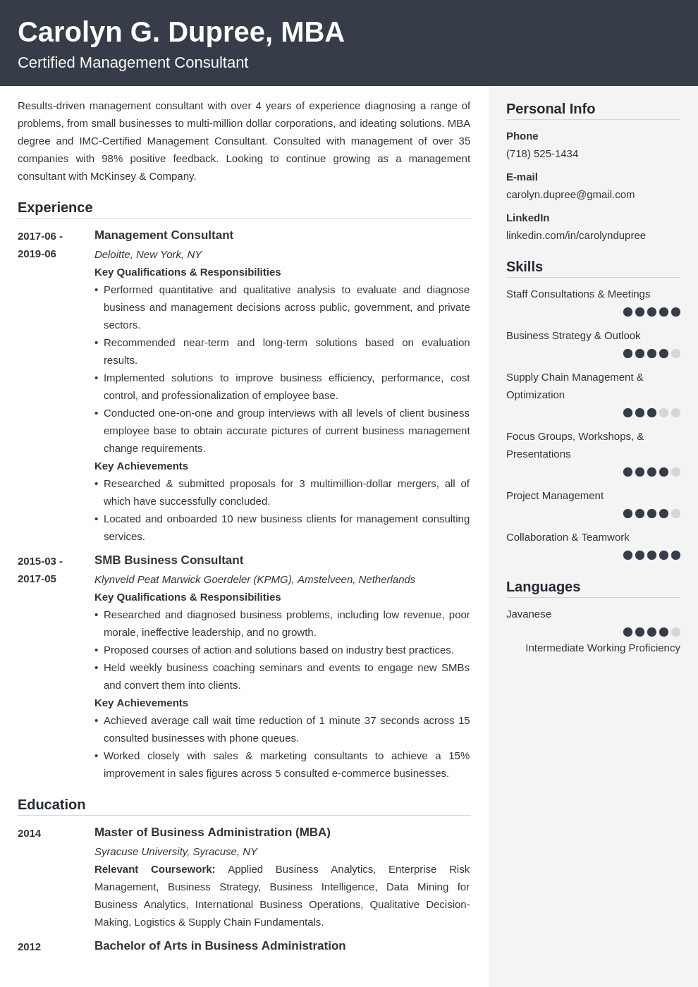 management consultant resume example template cubic