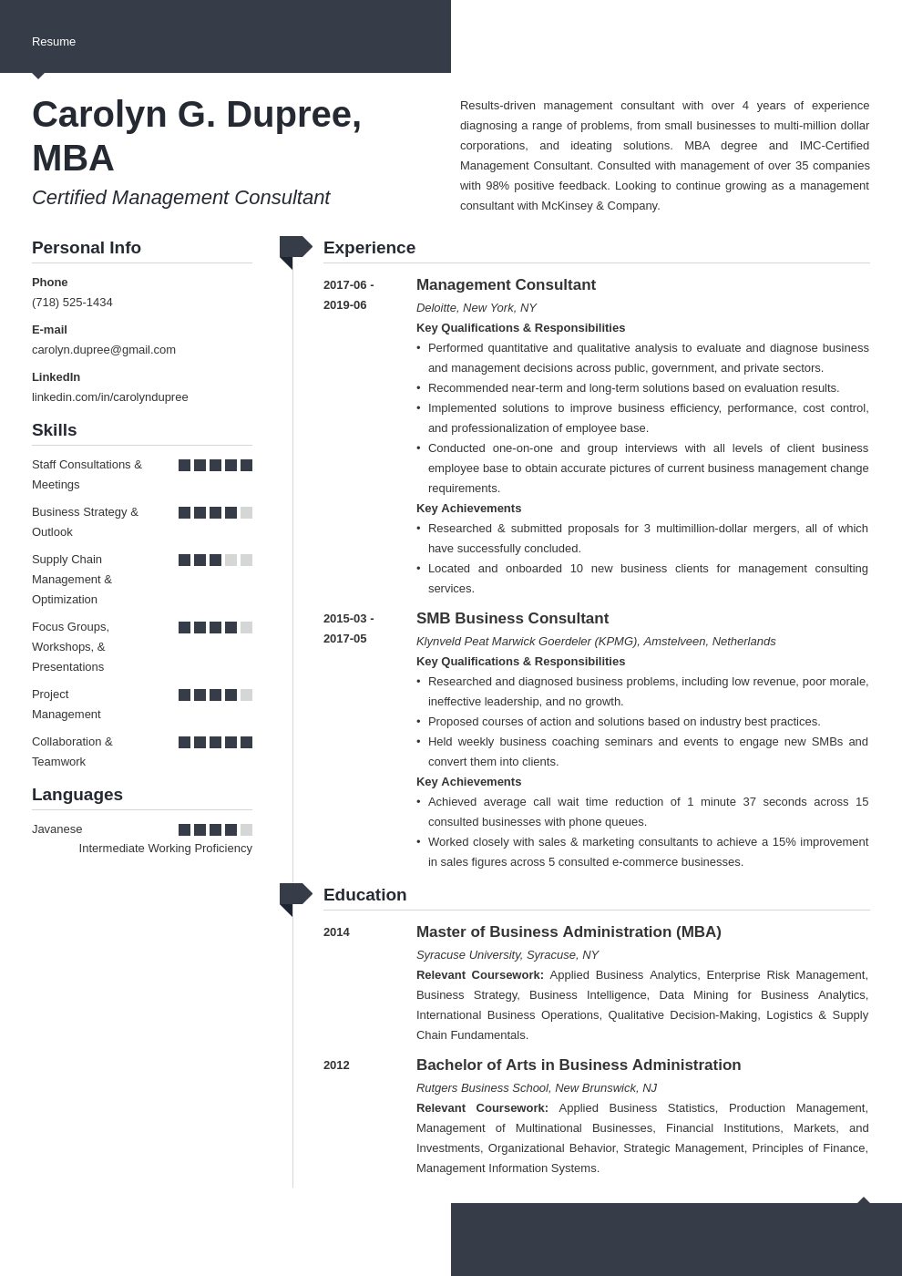 management consultant resume example template modern