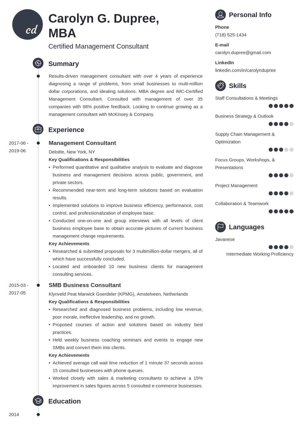 management consultant resume example template primo