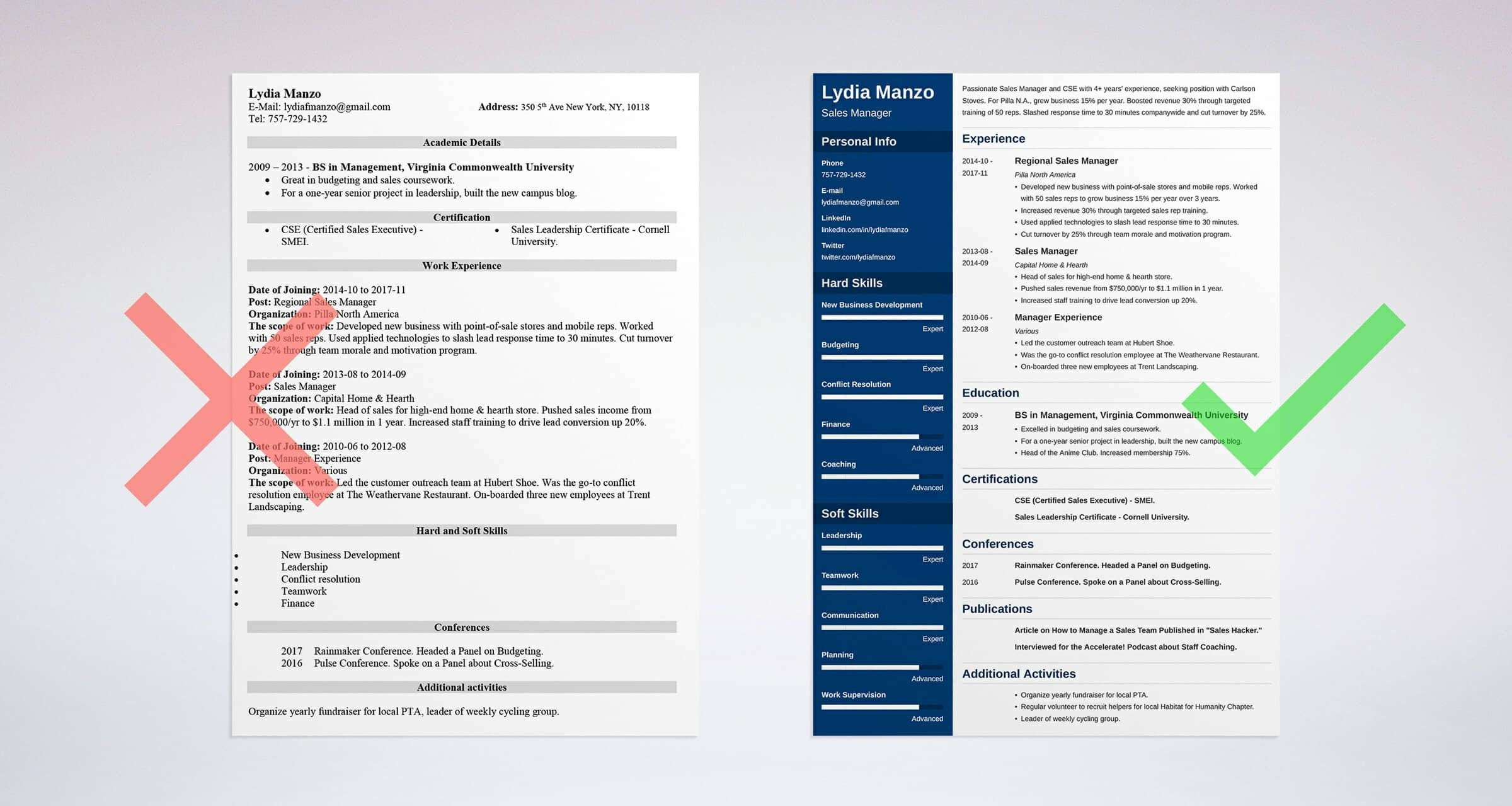 manager resume sample - Managerial Resume Sample
