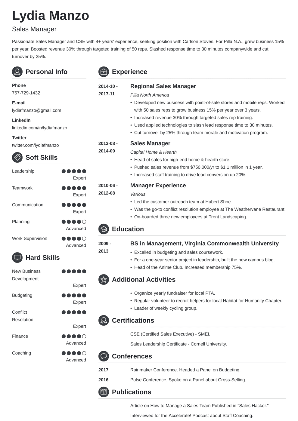 Manager Resume: Sample and Complete Guide [20+ Examples]