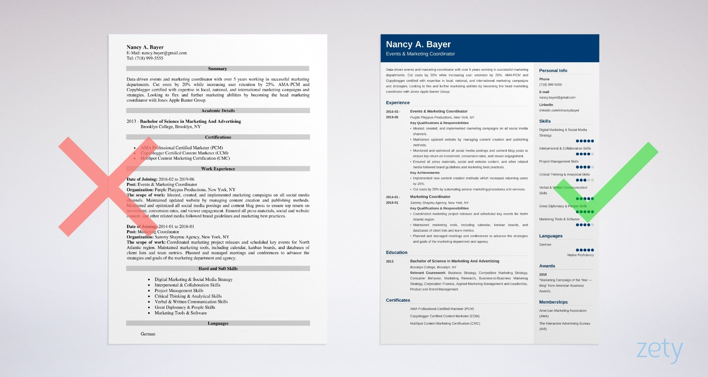 marketing coordinator resume templates