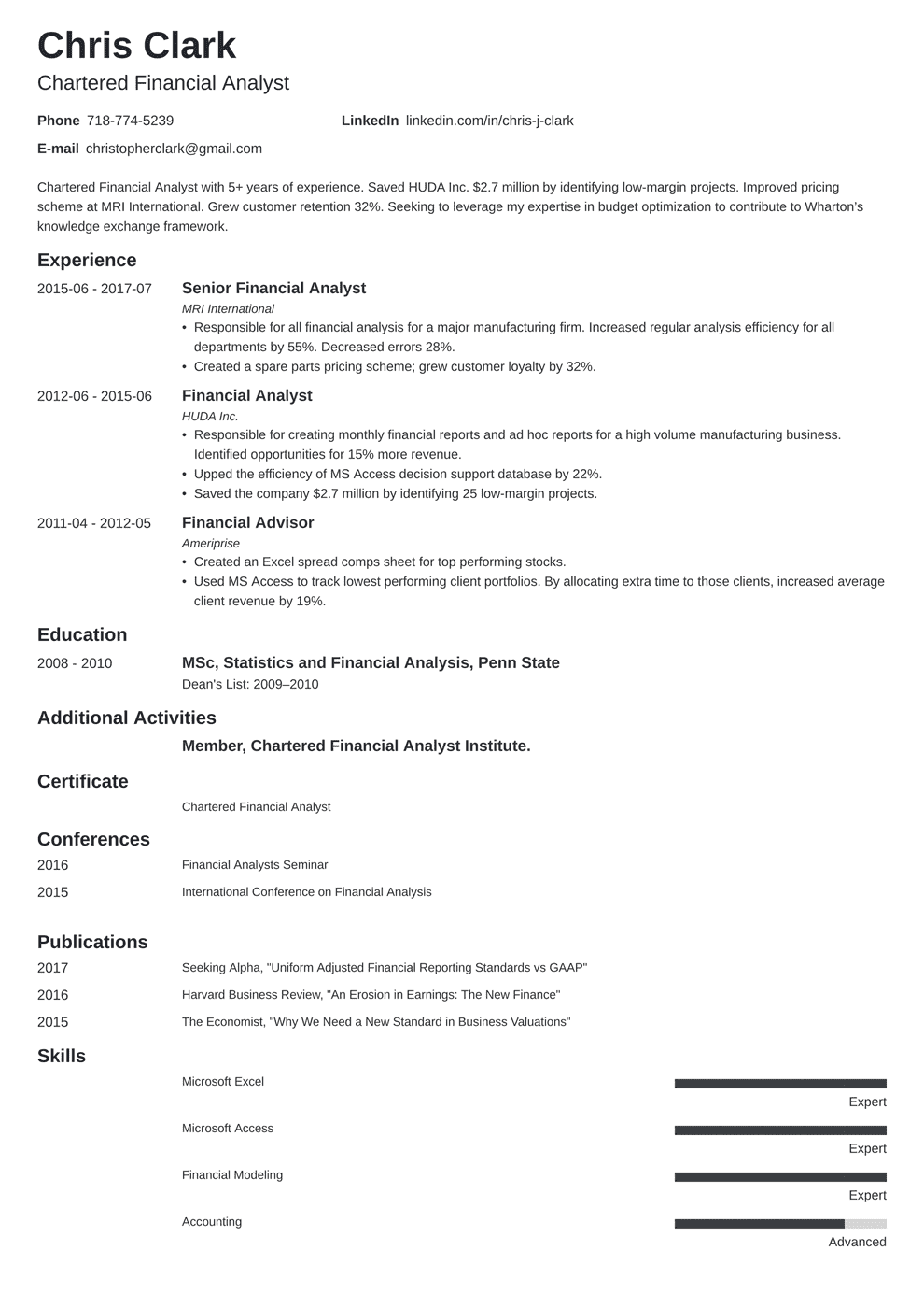 Mba Application Resume Template Writing Guide 20 Examples