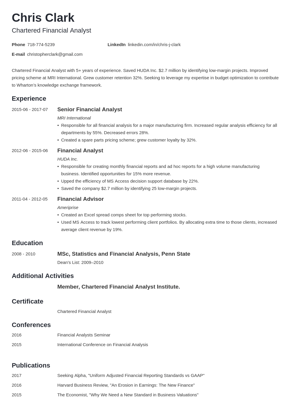 mba resume example template minimo