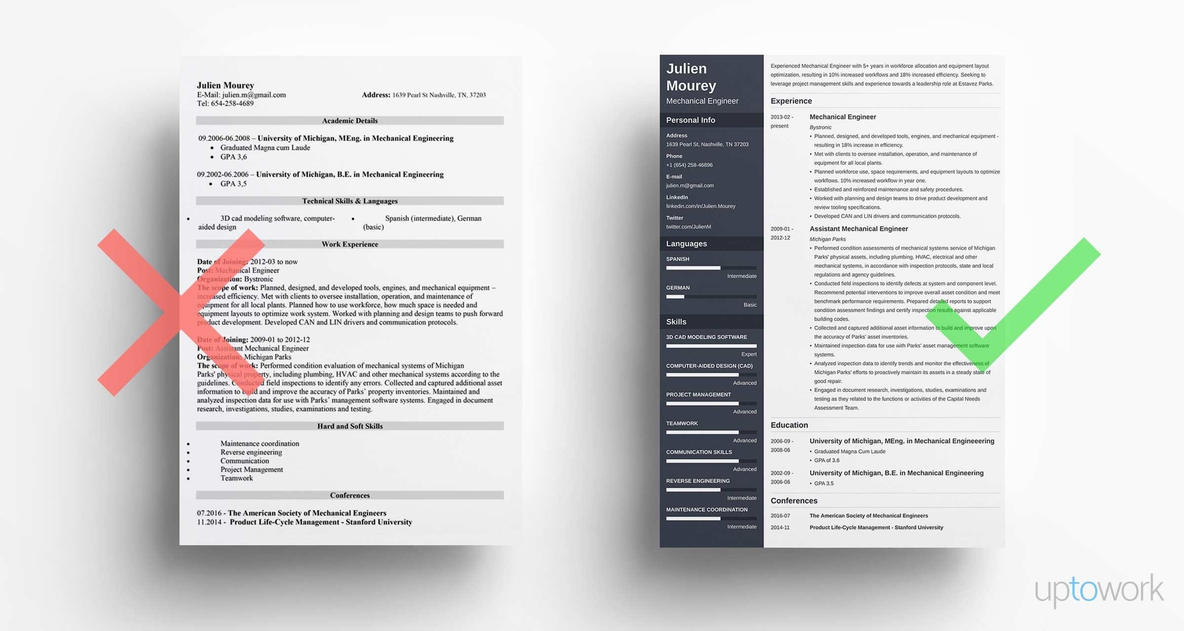 Sample Engineering Resume Interesting Mechanical Engineering Resume Guide With Sample [48 Examples]