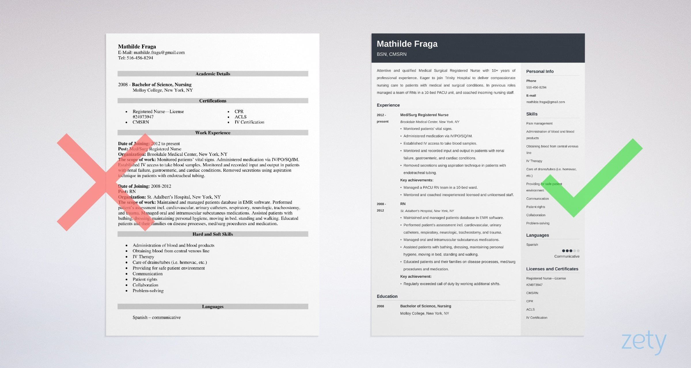 med-surg nurse resume templates