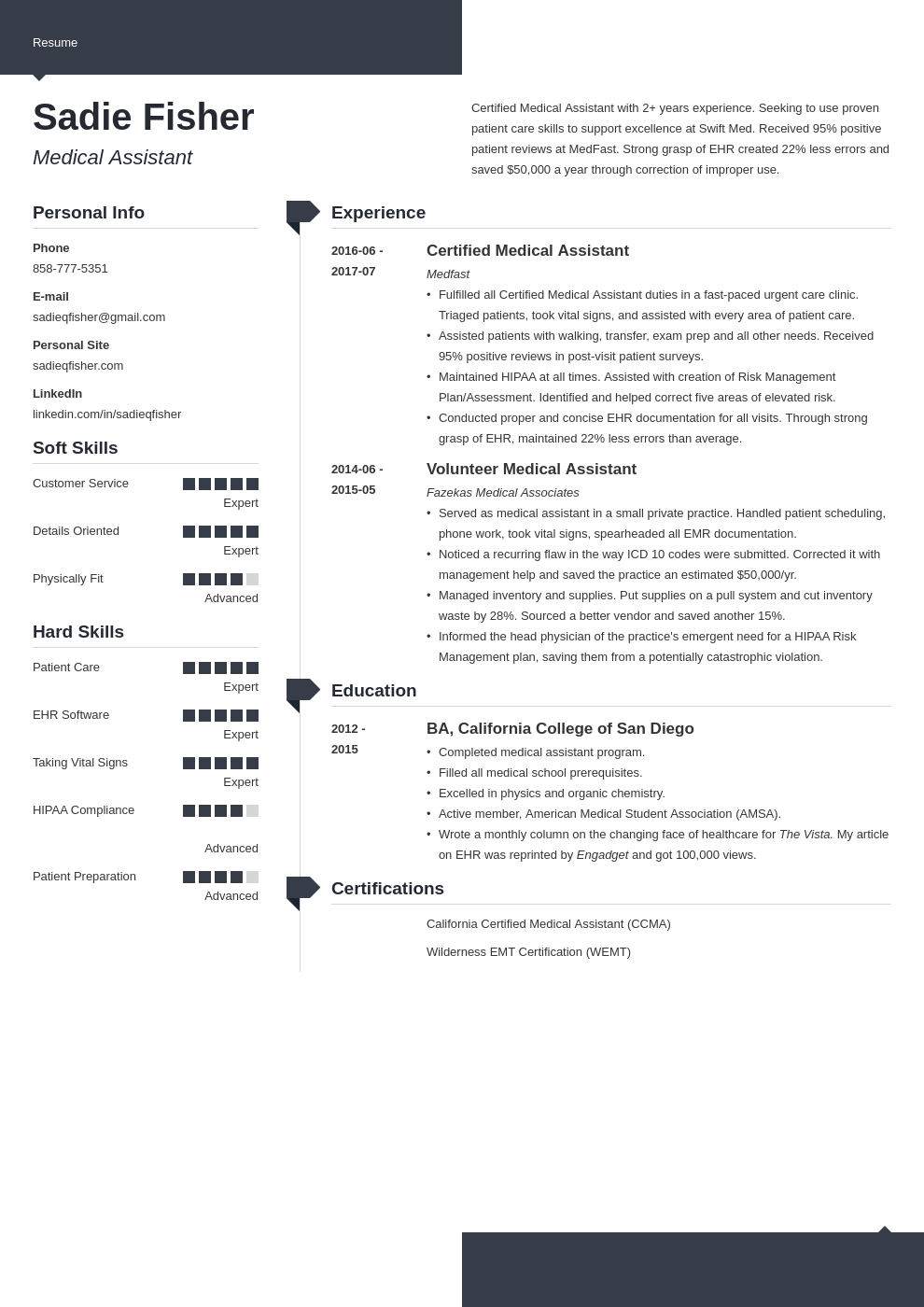 medical assistant resume example template modern