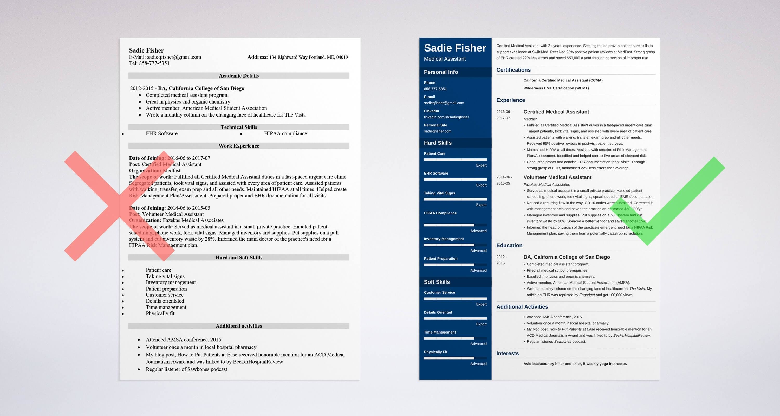 medical assistant resume  sample  u0026 complete guide  20
