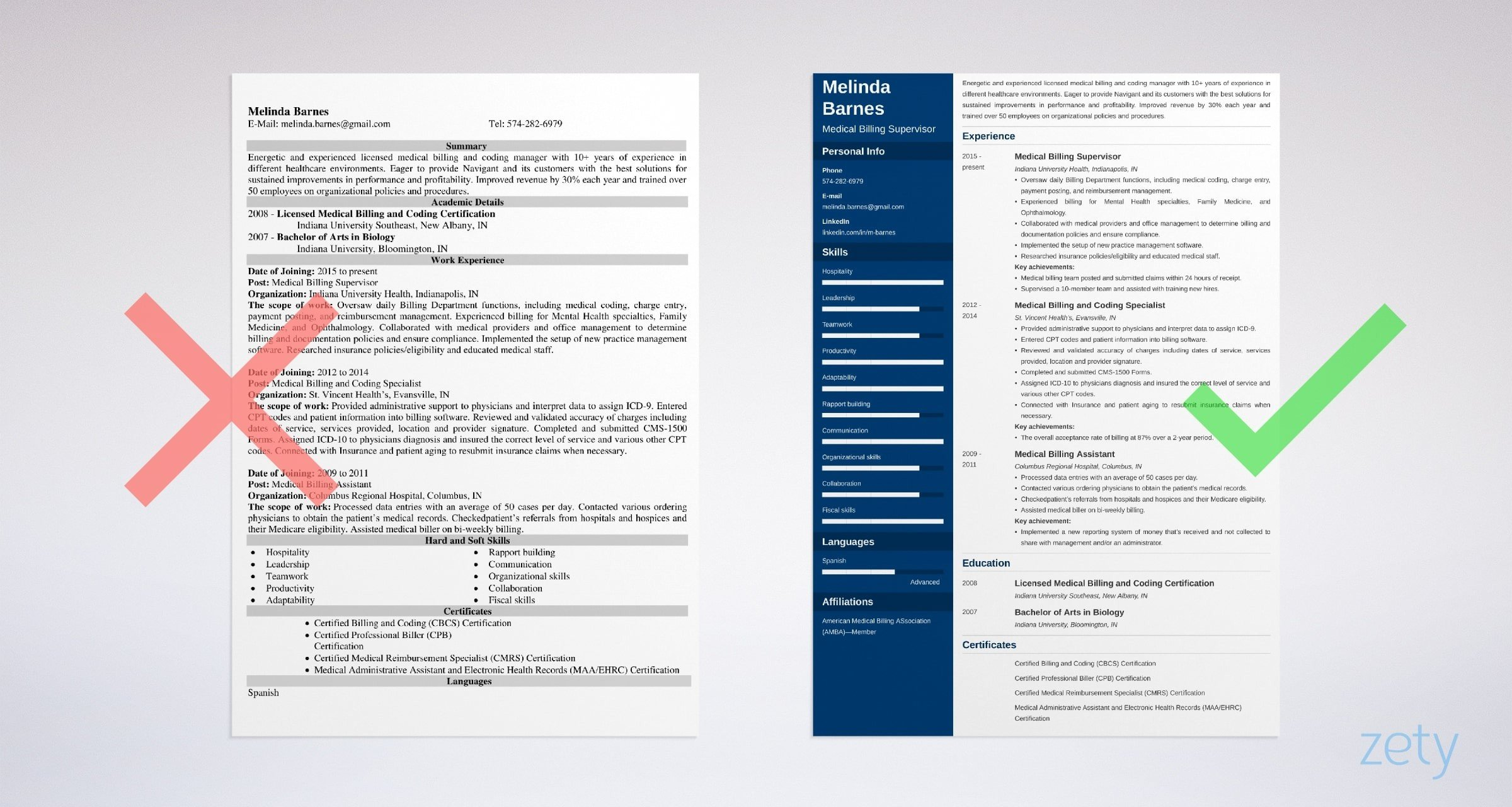 medical billing resume templates