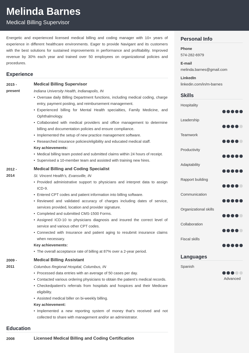medical billing resume example template cubic