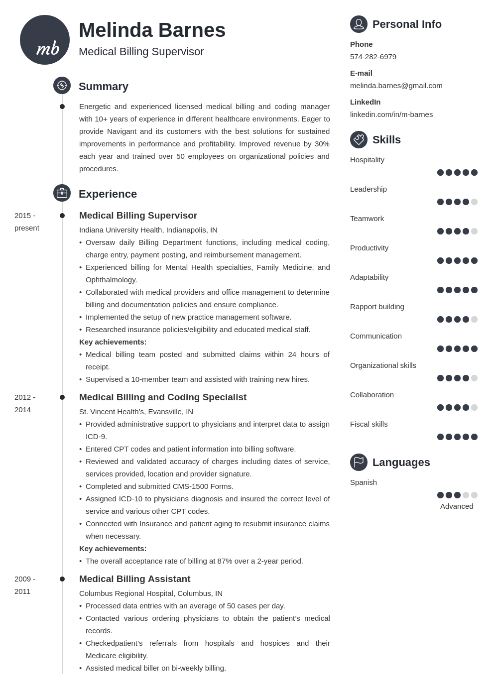 medical billing resume example template primo