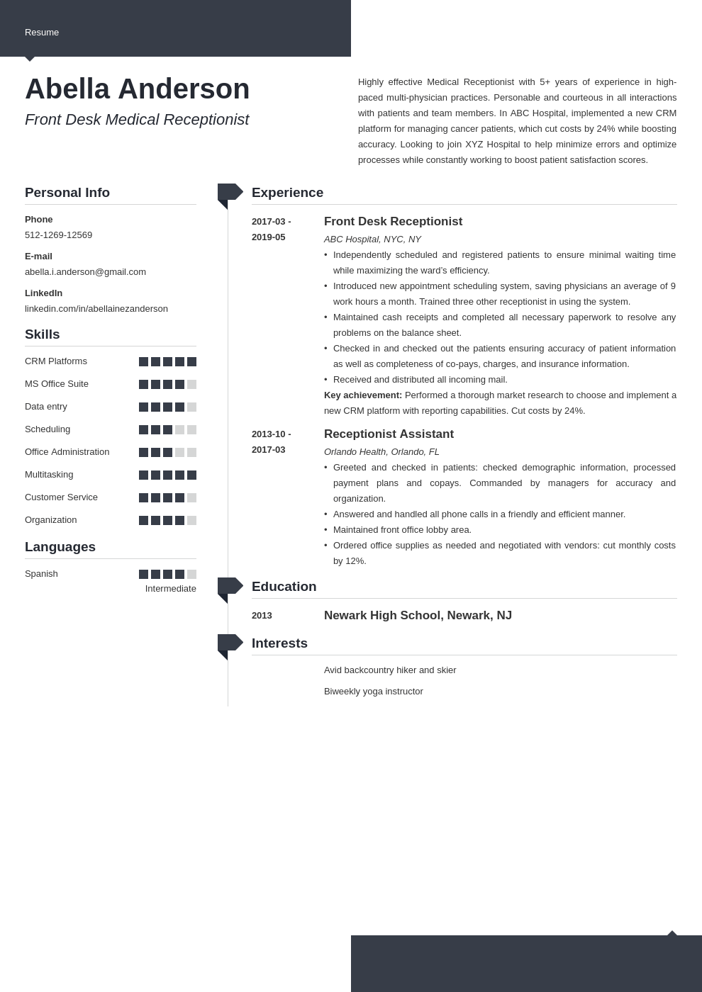 medical receptionist resume example template modern