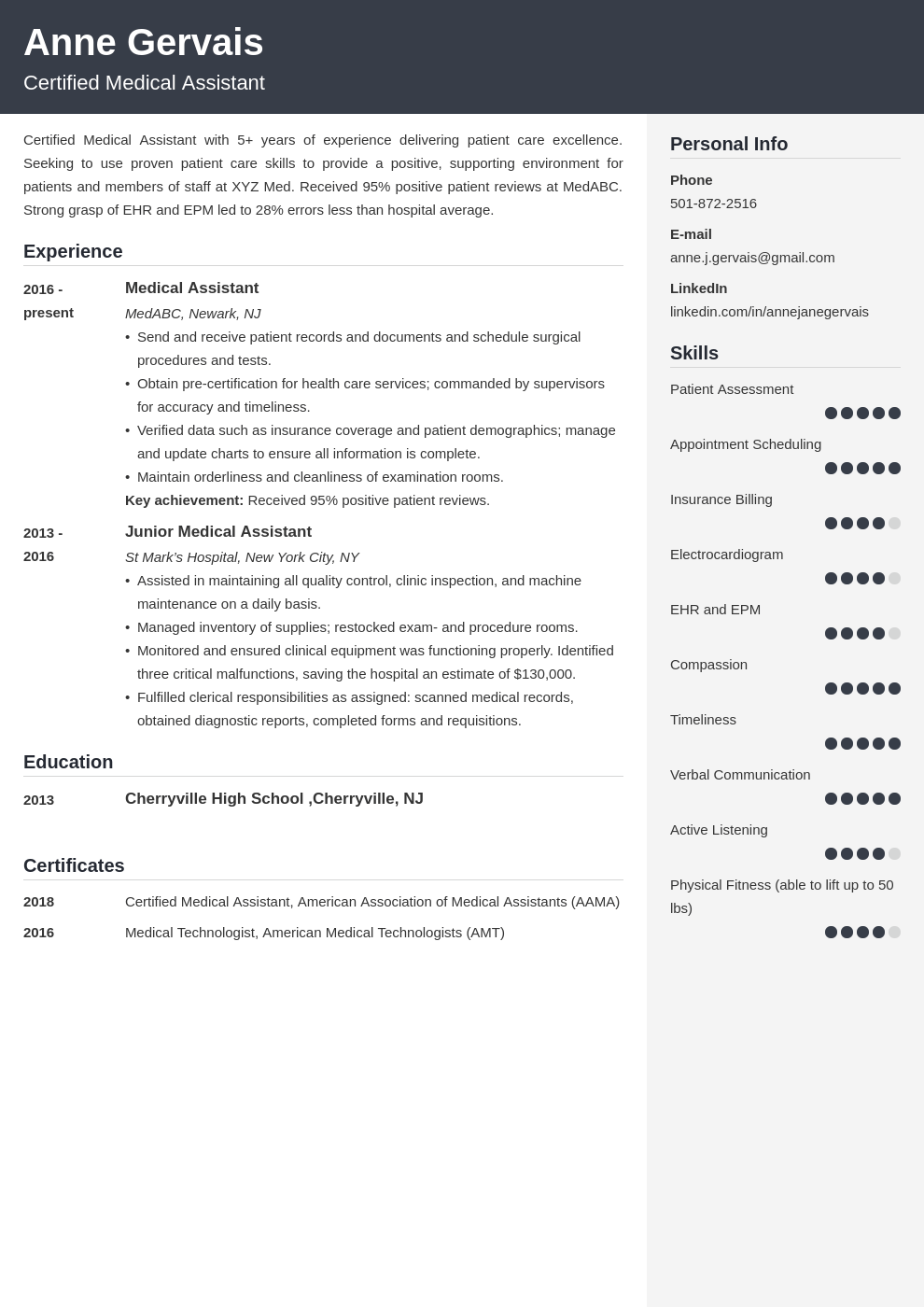 medical resume example template cubic