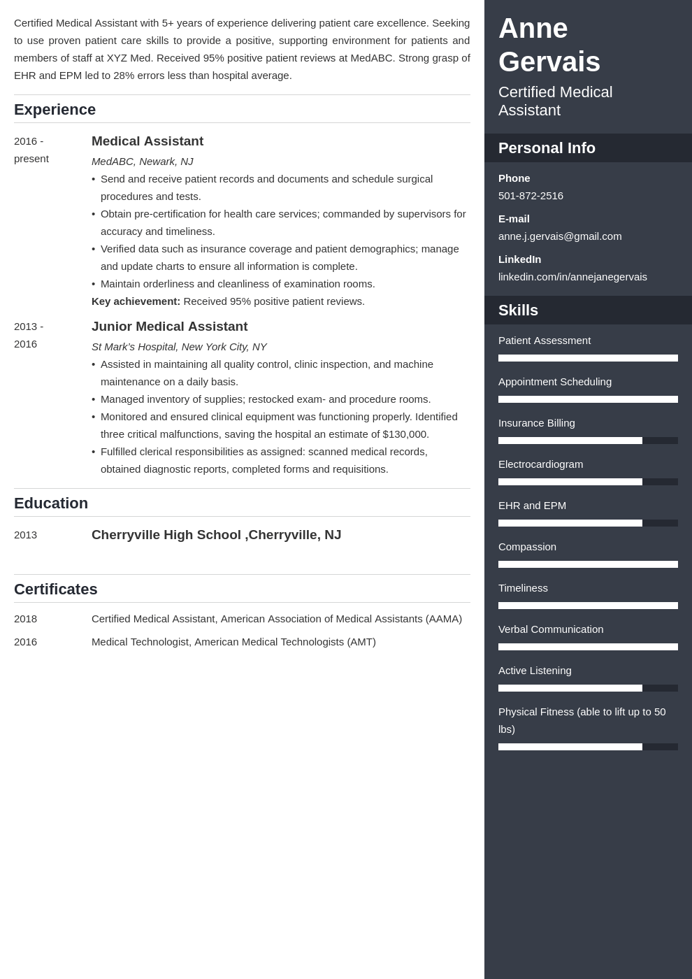 medical resume example template enfold