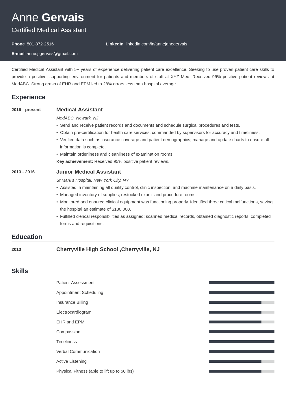 medical resume example template influx