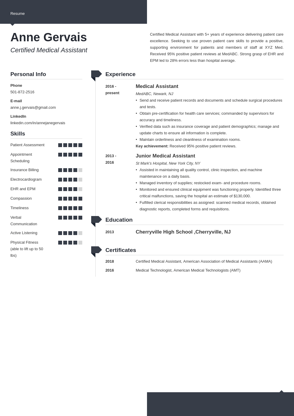 medical resume example template modern