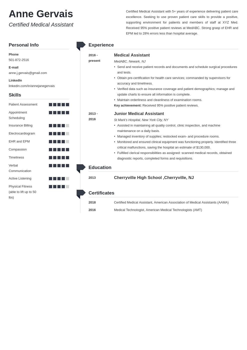 medical resume example template muse