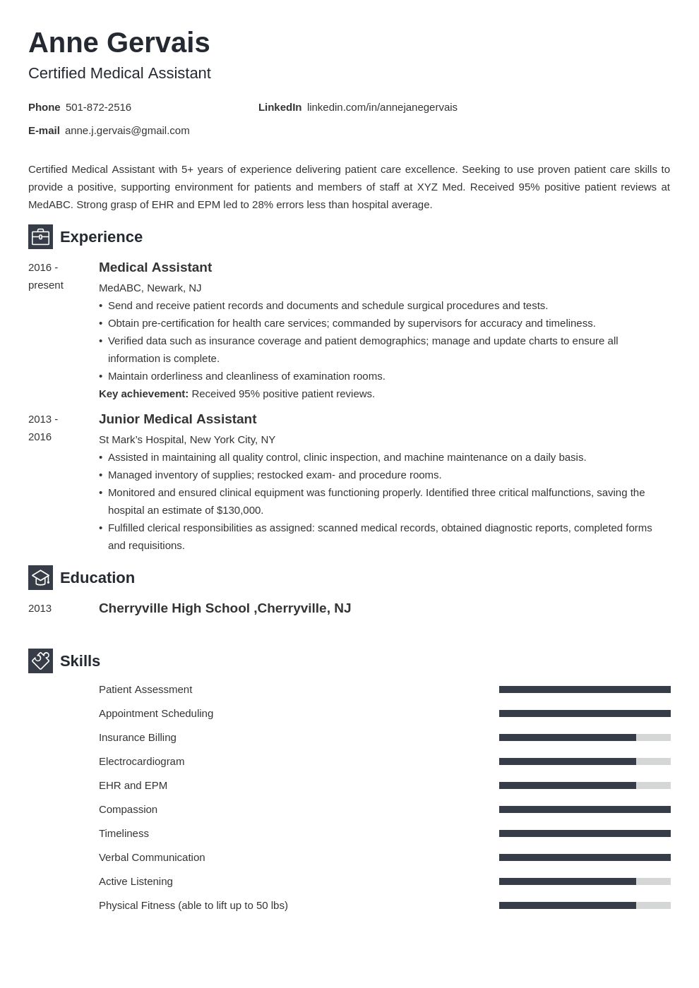 medical resume example template newcast