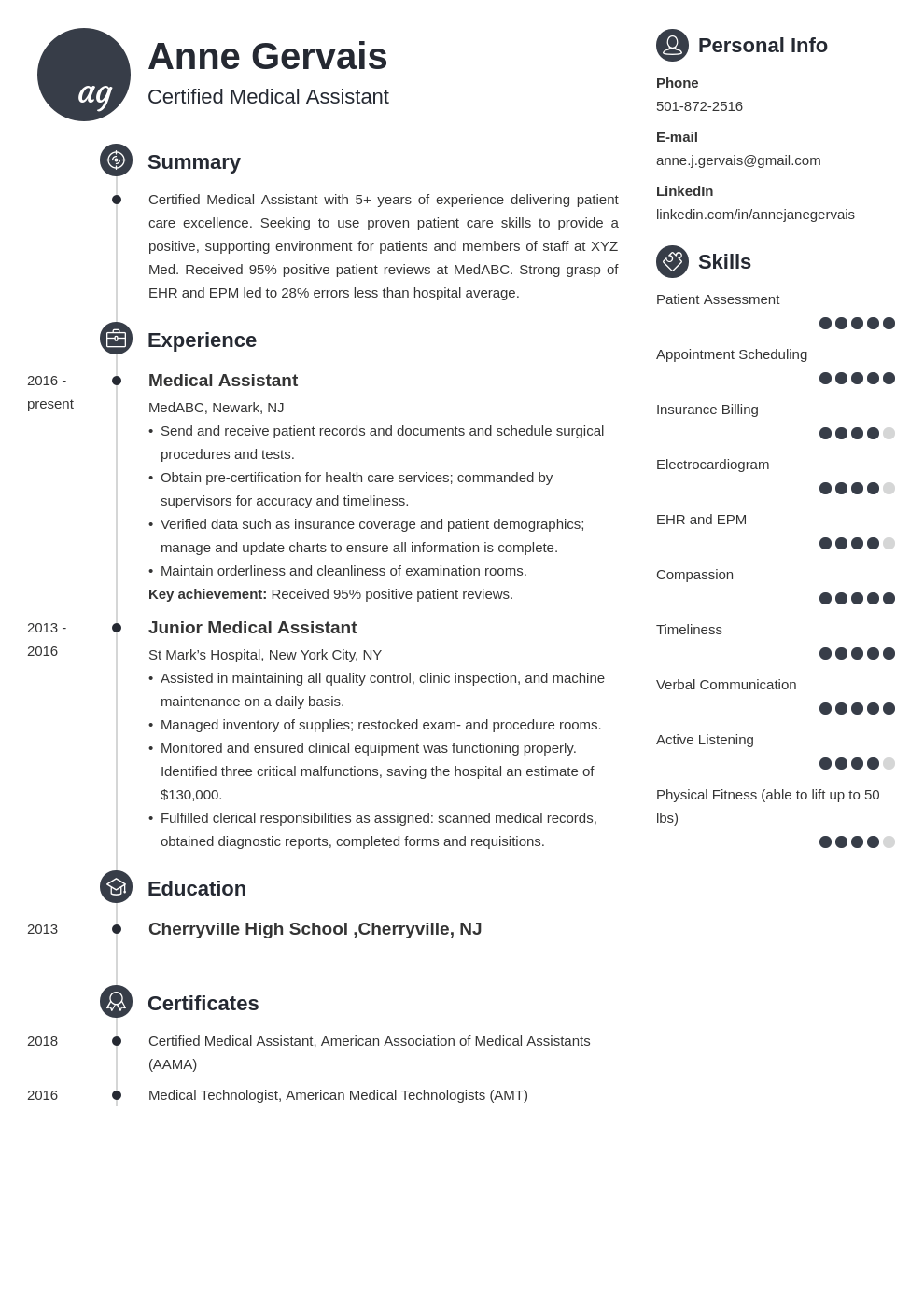 medical resume example template primo