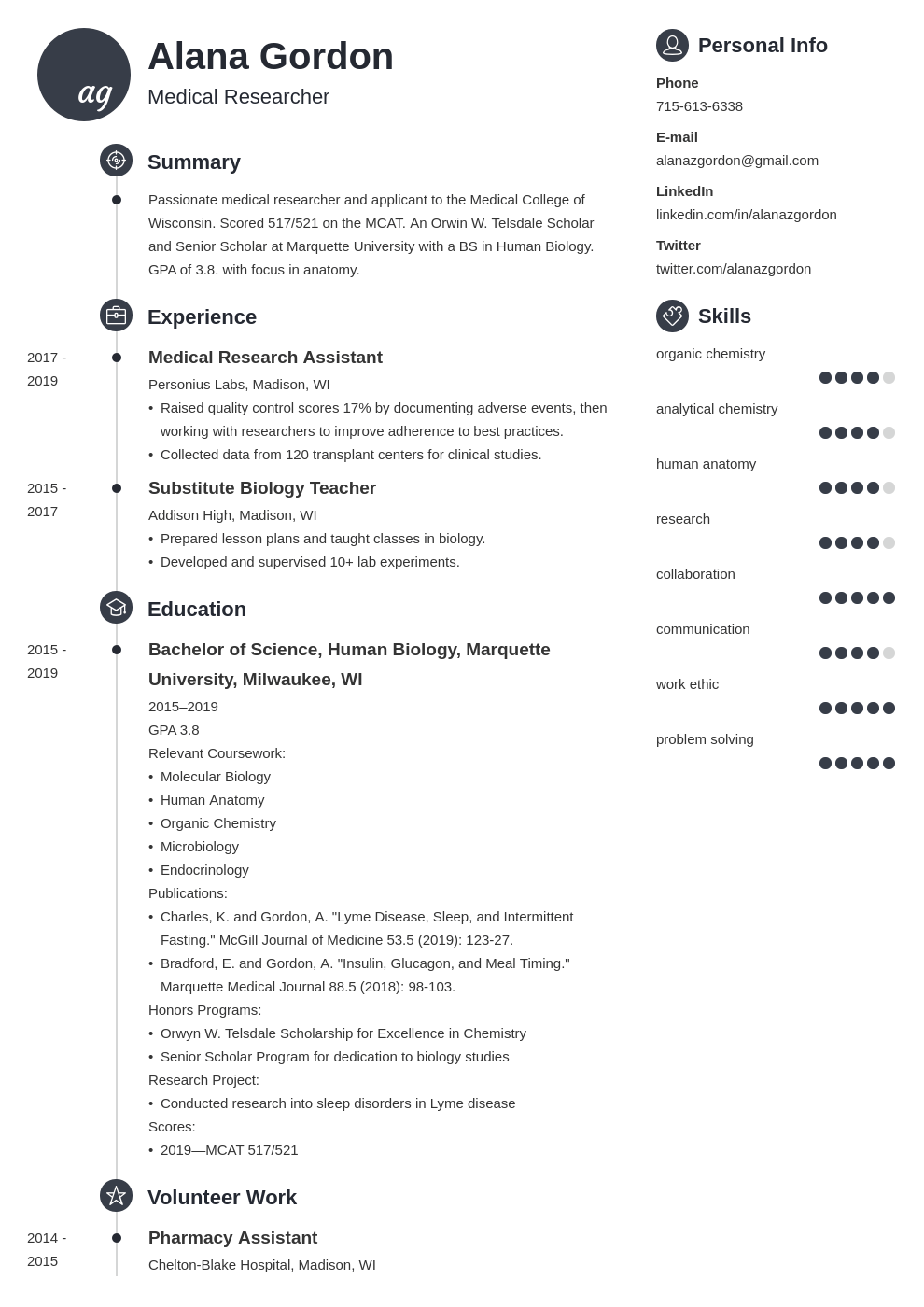 medical school resume example template primo