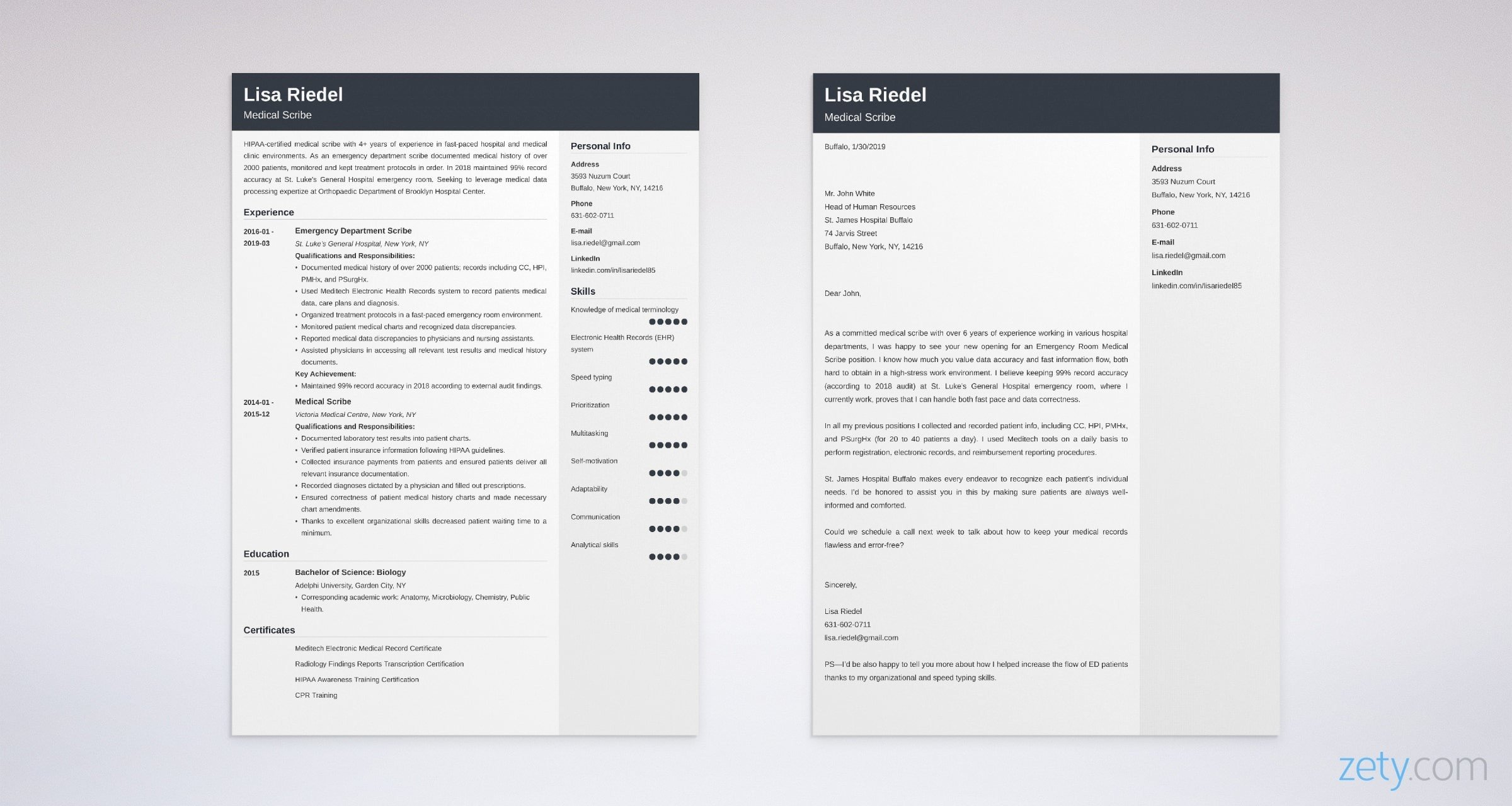 Medical Scribe Cover Letter Samples Proper Format