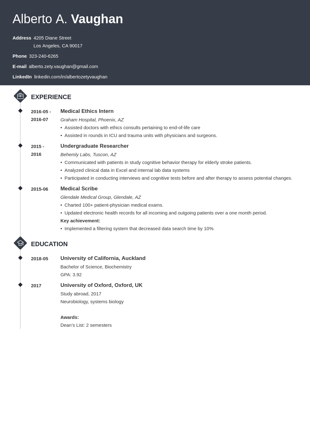 medical student cv template diamond