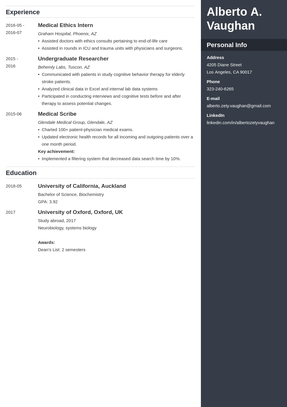 medical student cv template enfold