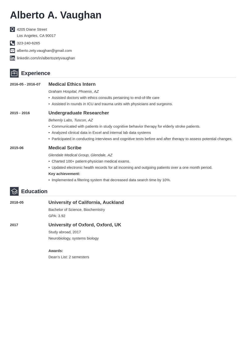 medical student cv template iconic