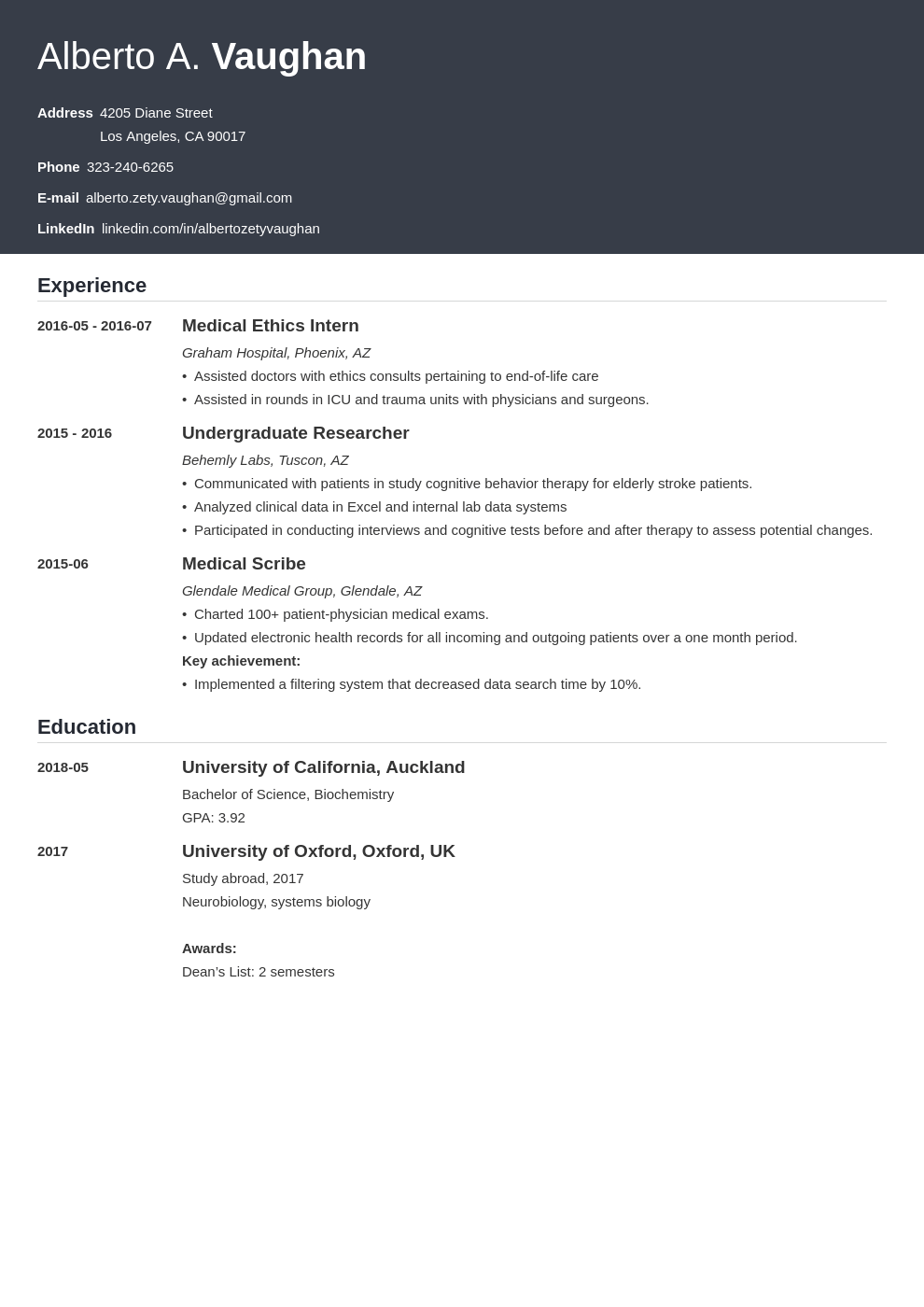 medical student cv template influx