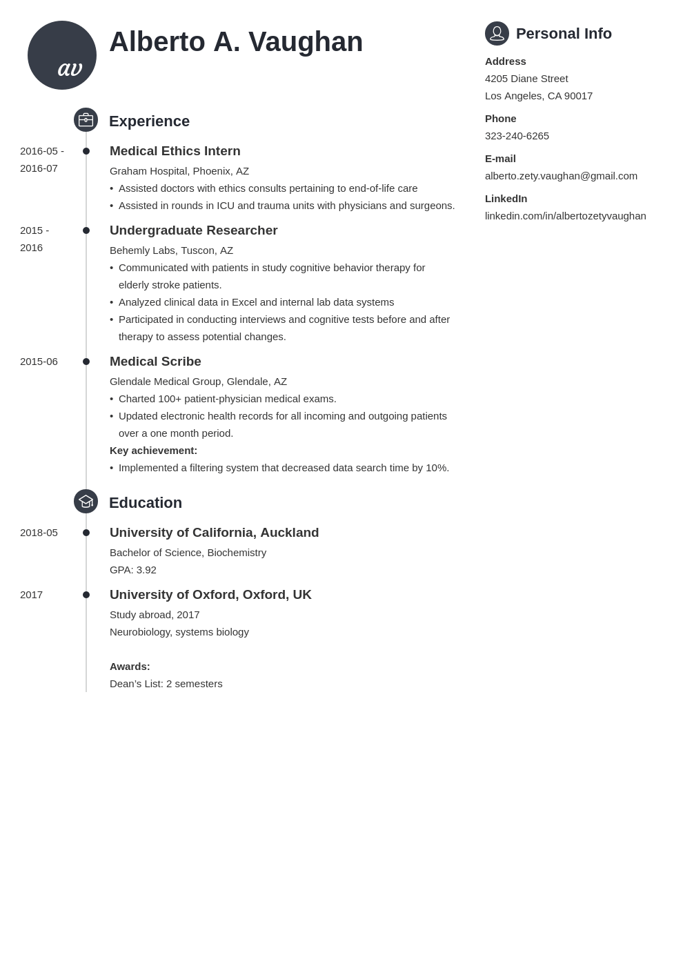 medical student cv template primo
