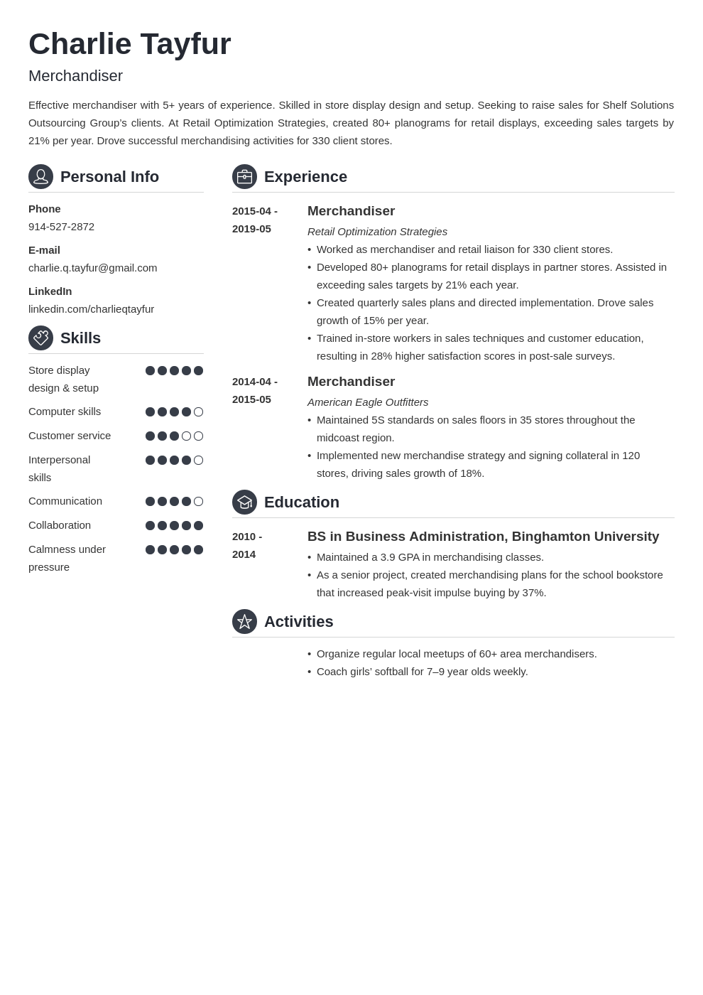 merchandiser resume example template crisp