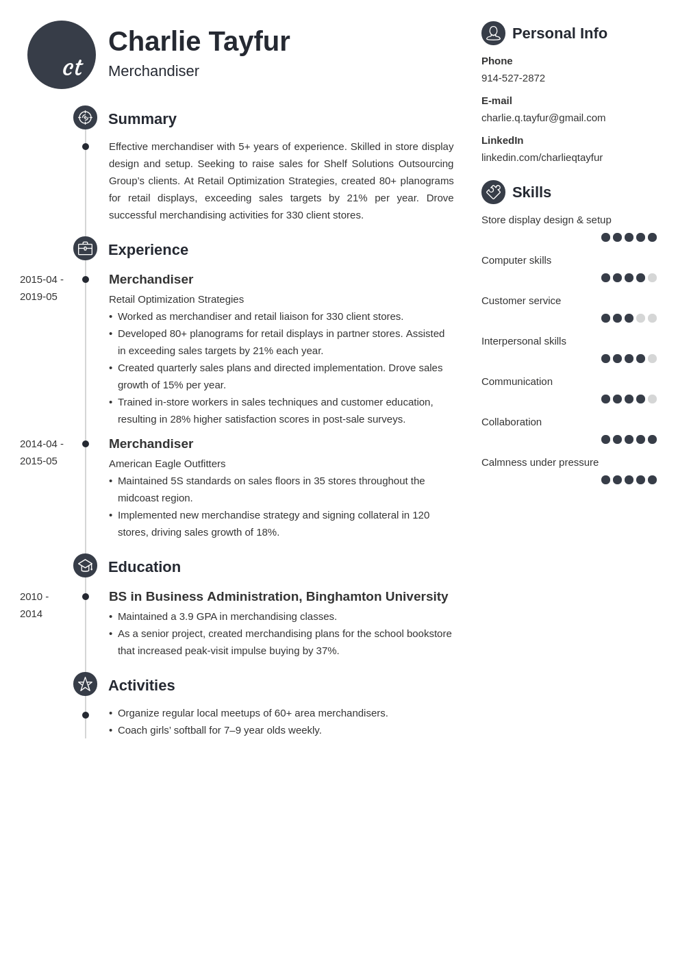 merchandiser resume example template primo