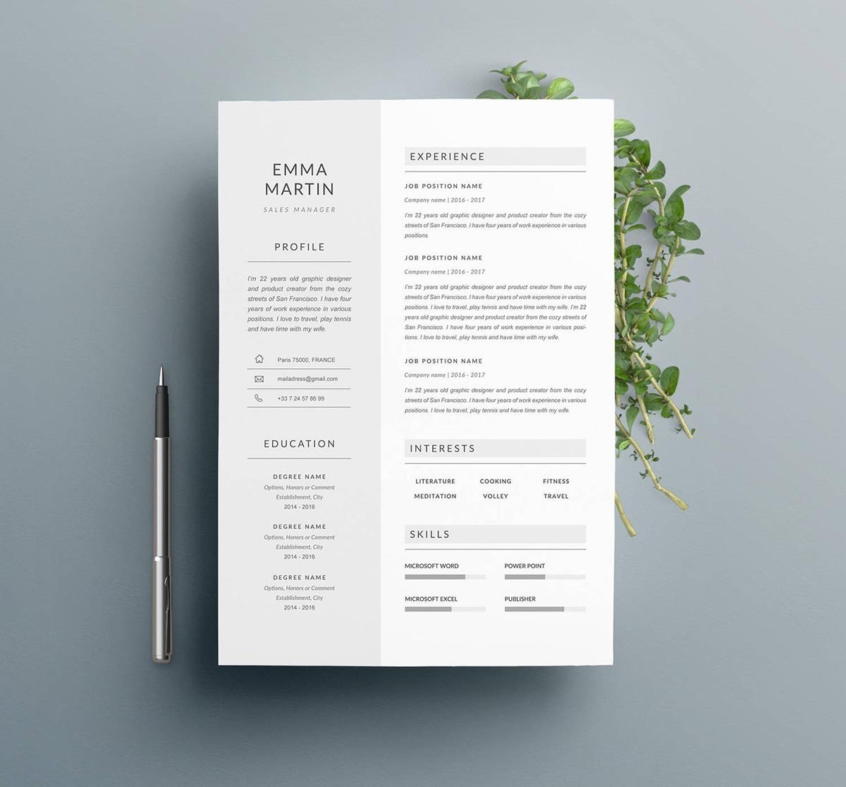 15  minimalist resume templates to download  u0026 use  free