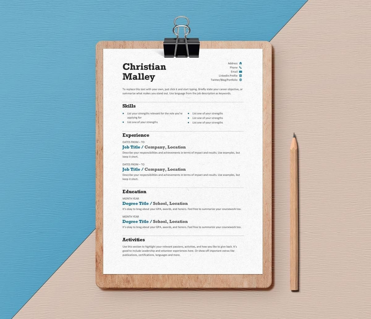 15 Minimalist Resume Templates To Download Use Free