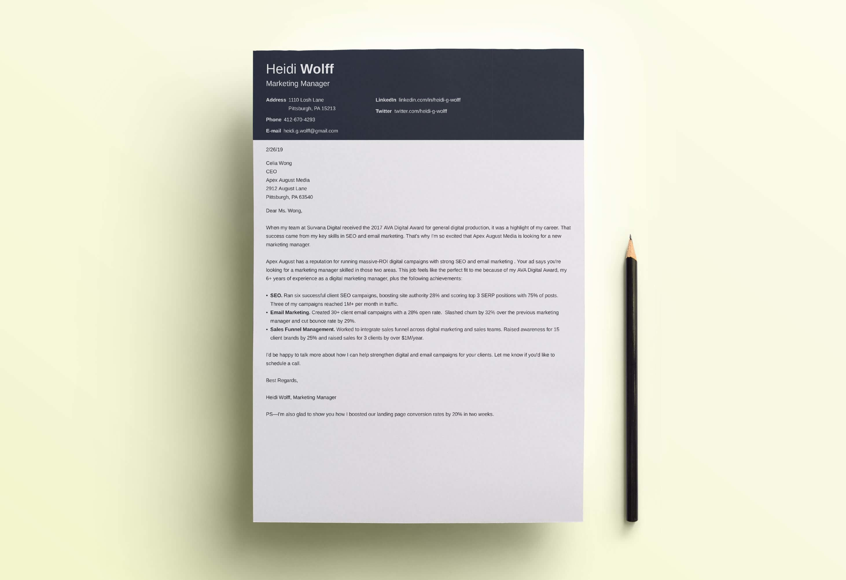 Top 14 Modern Cover Letter Templates To Download Now
