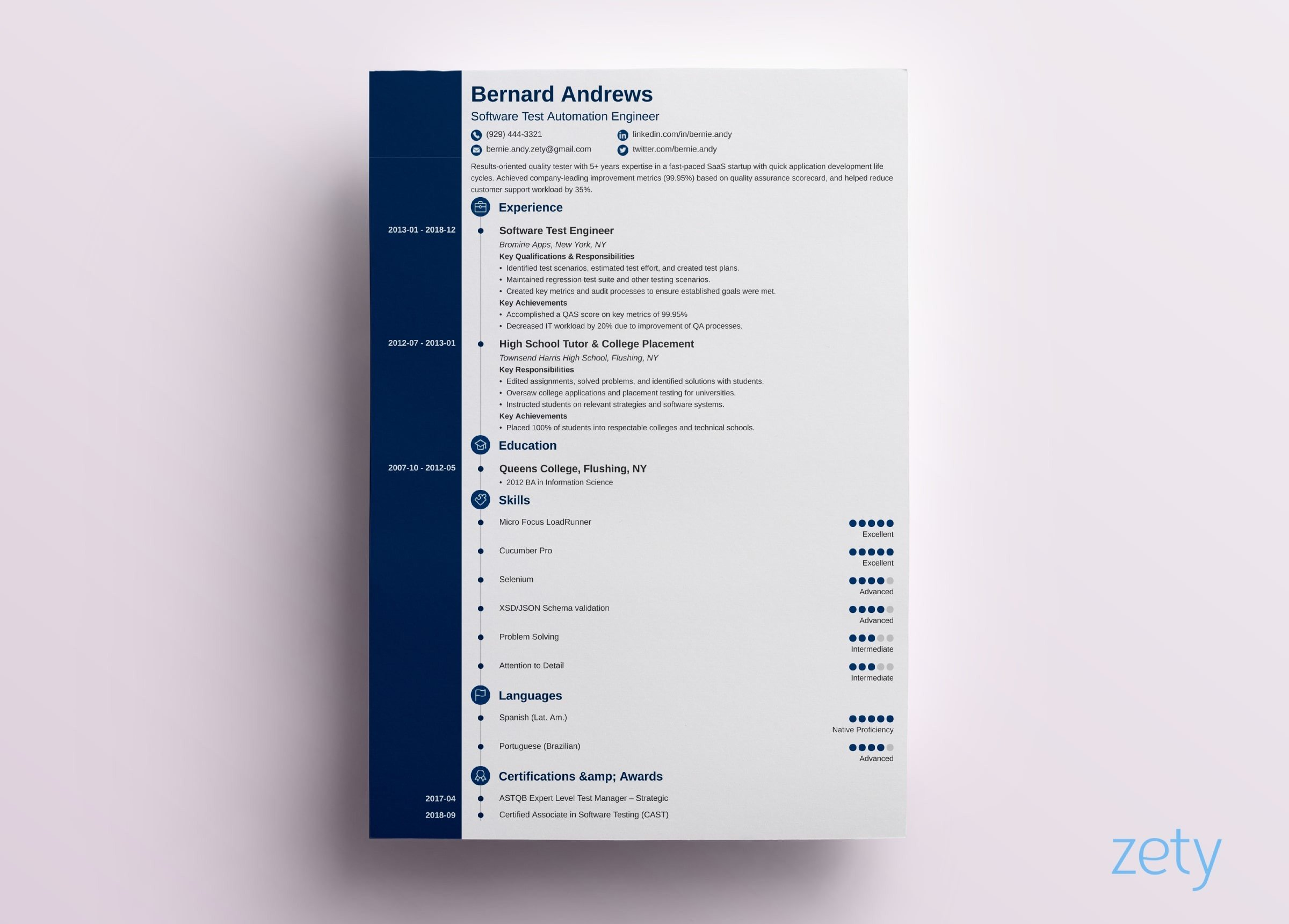 Best Modern Resume Template 9