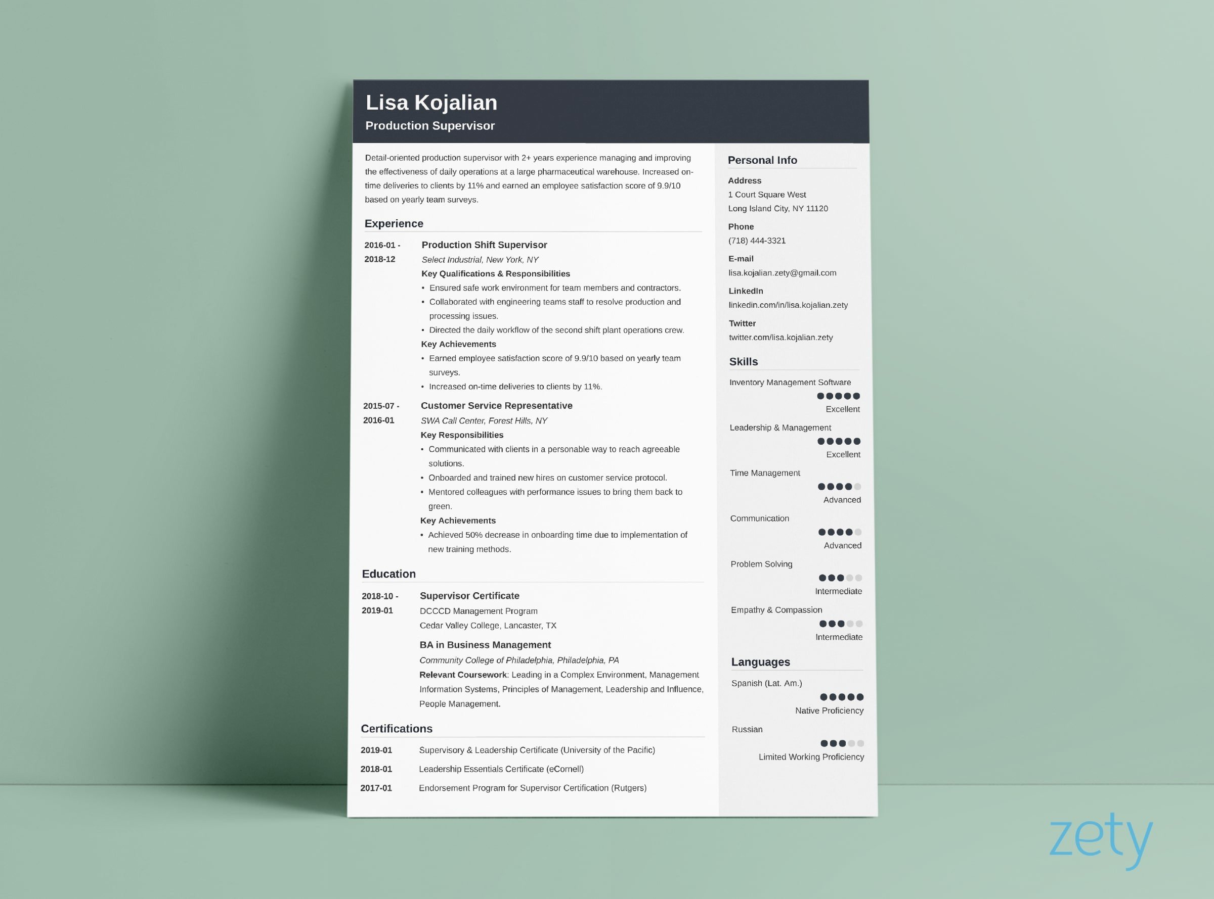 Best Modern Resume Template 83
