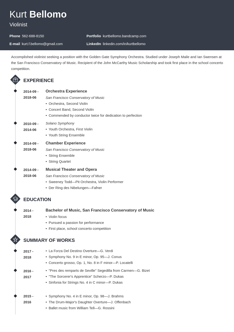 music resume example template diamond