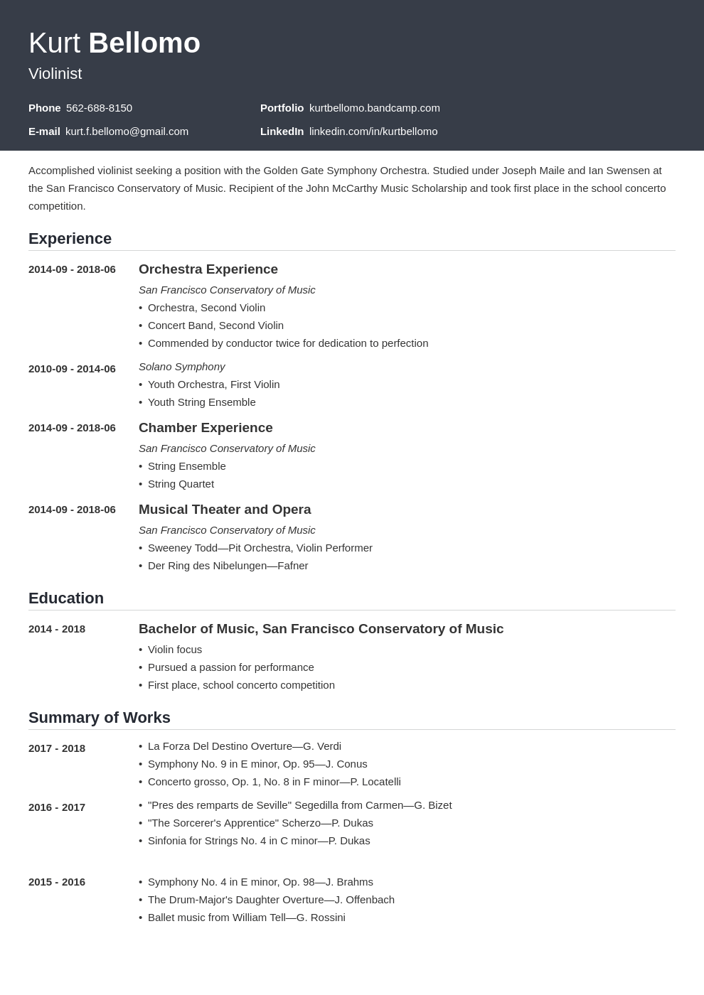 music resume example template influx