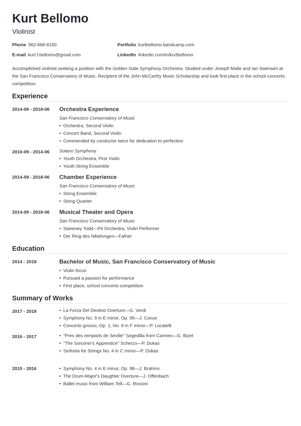 music resume example template nanica