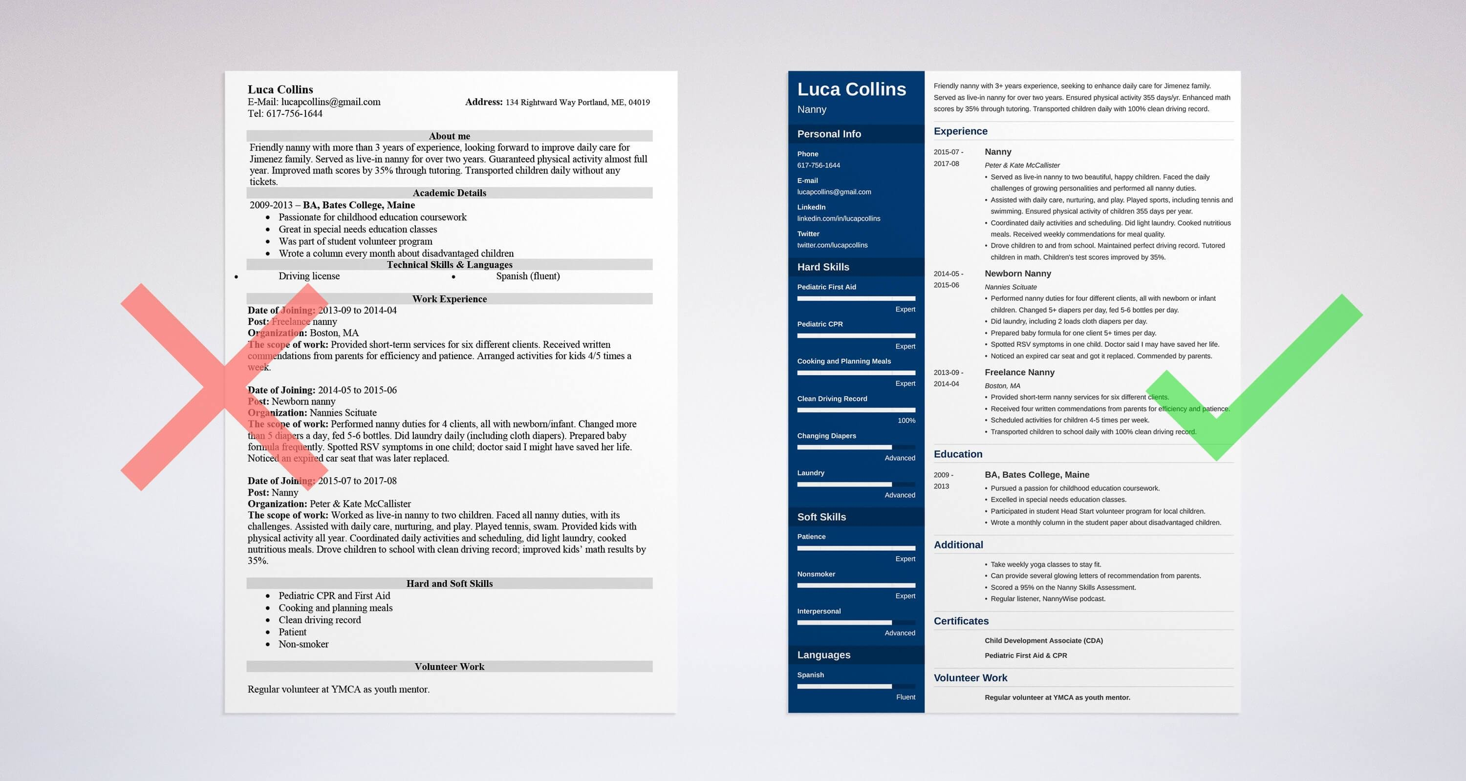 nanny resume sample and plete guide [ 20 examples]