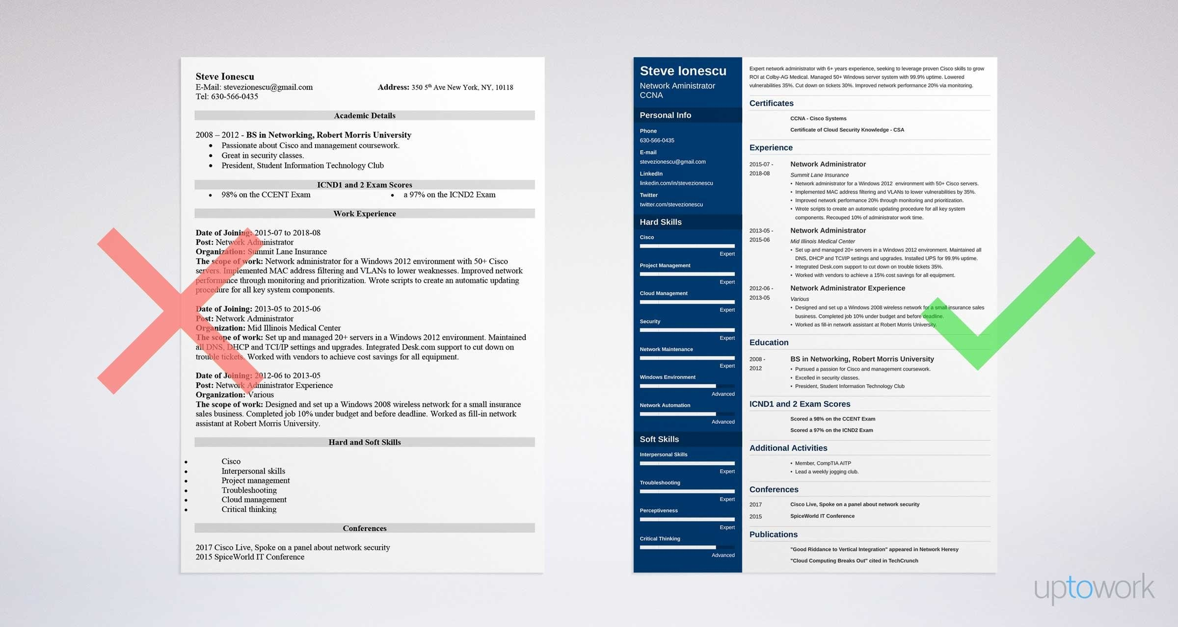 network administrator resume sample writing guide 20 examples - Network Admin Resume Sample